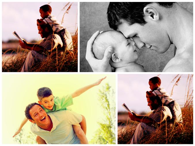 Colagem de fotos do dia dos Pais