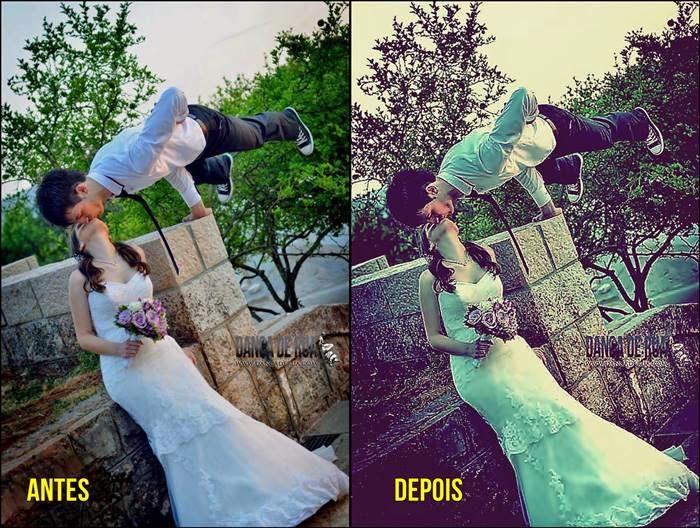 efeito vintage no photoscape