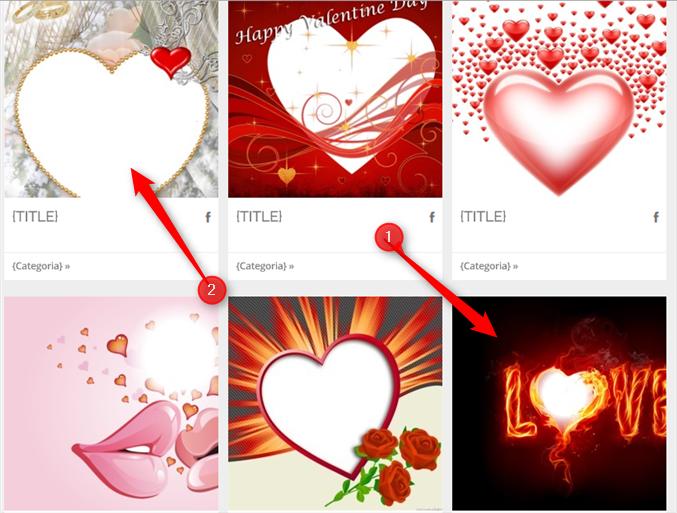 modelos de montagem de amor